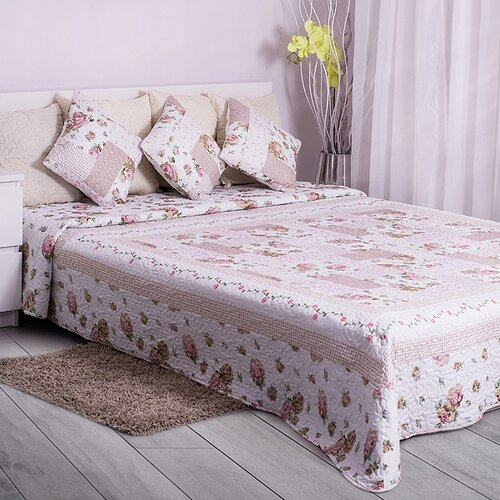 Fotografie Domarex Přehoz na postel Růžová zahrada, 200 x 220 cm