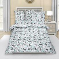 Lenjerie de pat din flanelă Trandafir, mentol