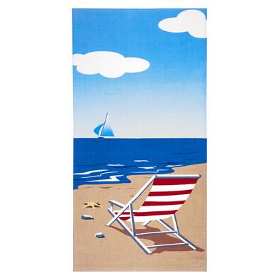 4Home Plážová osuška Pláž, 75 x 150 cm