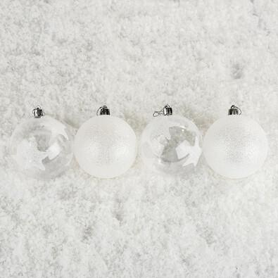 Vanoční koule s hvězdami Bglitter 4 ks