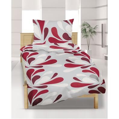 Obliečky Mikroplyš Kvapky bordové, 140 x 200 cm, 70 x 90 cm