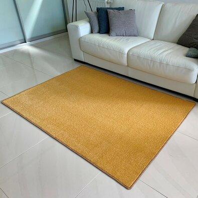 Kusový koberec Eton Lux žltá, 120 x 170 cm