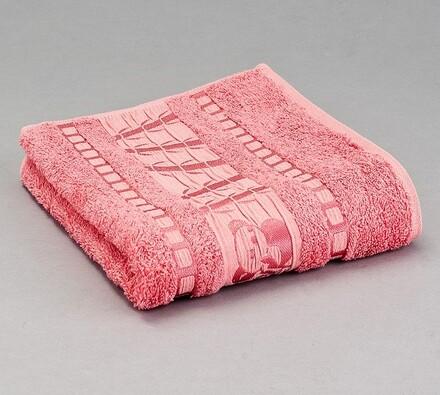 Sada 2 ks bambusových ručníků, starorůžová, lososová, 50 x 90 cm