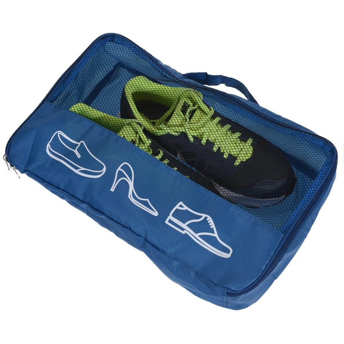 Koopman Cestovní obal na boty tmavě modrá, 40 x 26 x 9 cm