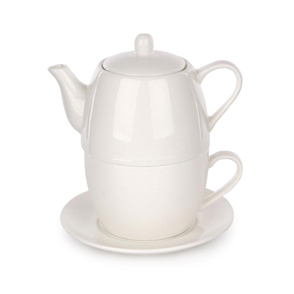 3dílná čajová sada Regular, porcelán