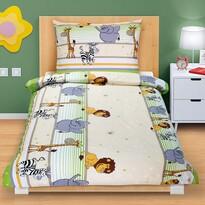 Lenjerie de pat din bumbac Safari verde deschis, 140 x 200, 70 x 90 cm