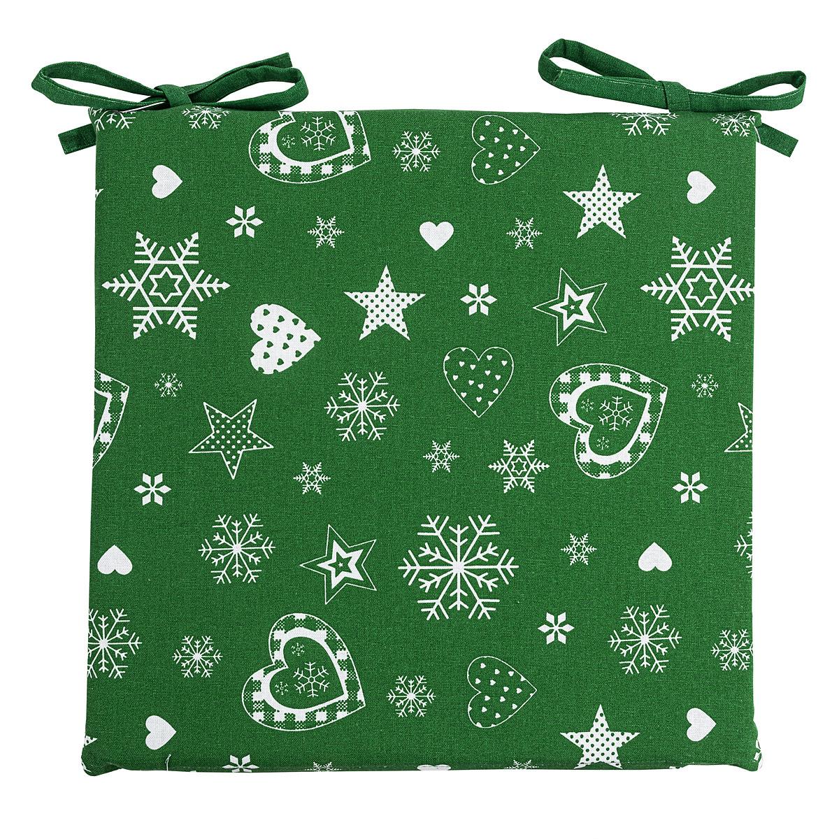 Forbyt Vánoční sedák 2013 zelená, 40 x 40 cm