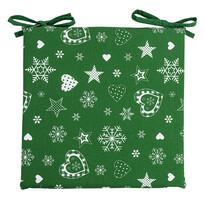 Vánoční sedák zelená, 40 x 40 cm