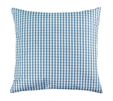 Polštářek Rita, sv. modrá kostička, 40 x 40 cm