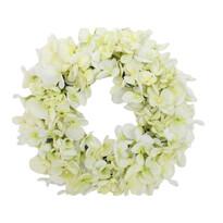 Műkoszorú Hortenzia fehér, átmérő 24 cm