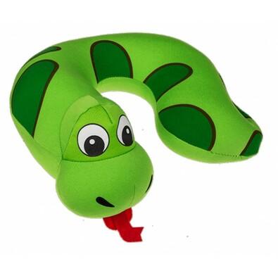 Pernă voiaj pentru copii Comic Animal green, 27 x 25 cm