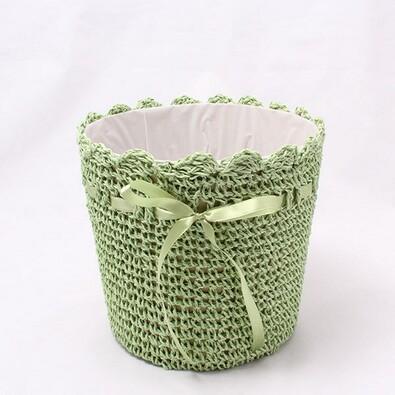Košík s mašličkou zelený