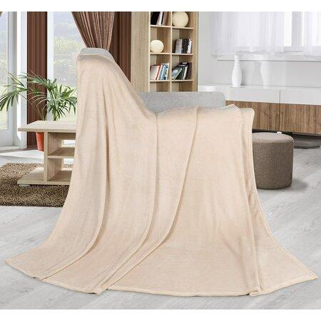 Bellatex Kemping Uni takaró, bézs, 150 x 200 cm