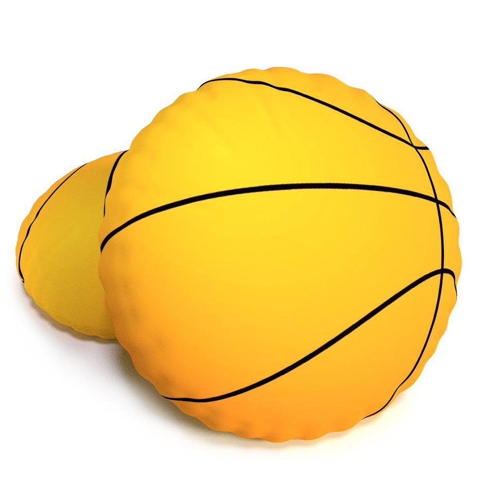TipTrade Tvarovaný 3D vankúšik Basketbalová lopta Baskeťák, 40 cm