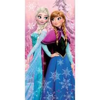Osuška Ledové království Frozen pink 02, 70 x 140 cm