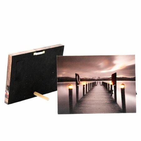 LED obraz na plátně Pier, 20 x 15 cm