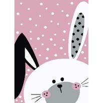Kusový detský koberec Kiddo 0131 pink, 80 x 150 cm