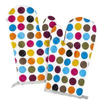 Chňapka puntík barevná, 28 x 18 cm, sada 2 ks