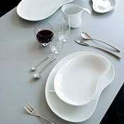 Dezertní talíř Bettina 16 x 23 cm, bílý
