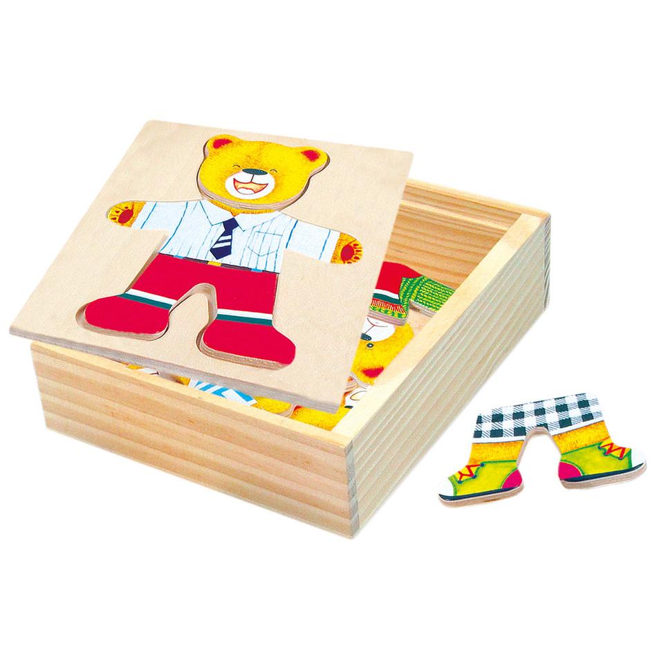 Bino Puzzle Szafa Niedźwiedź