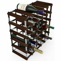 RTA Stojan na víno na 30 fliaš tmavá borovica
