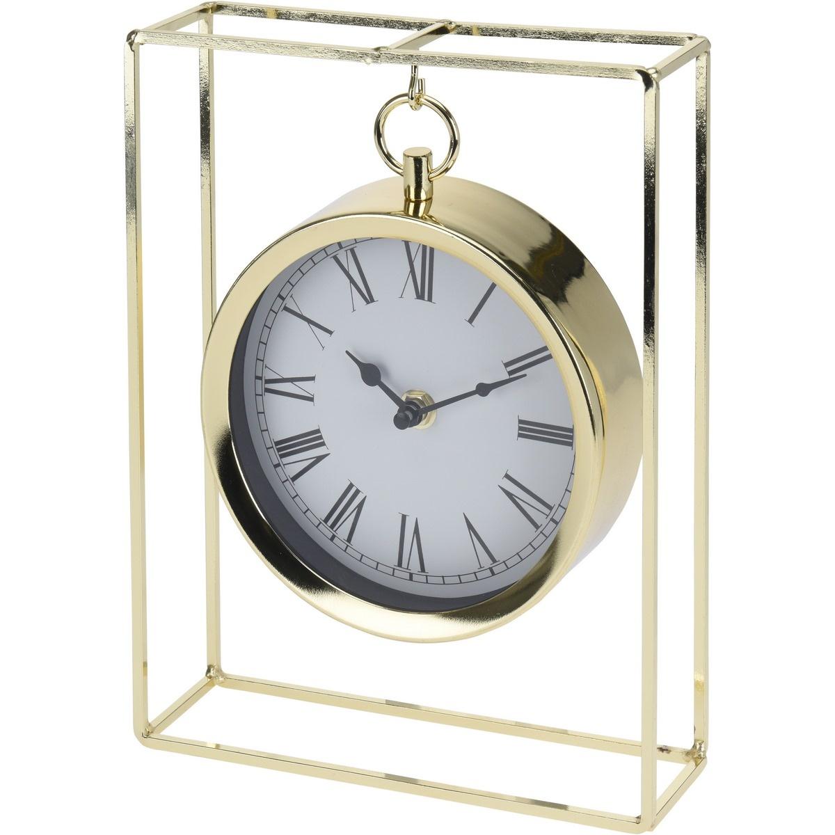 Stolní hodiny Erada zlatá, 18,8 x 5,8 x 25 cm