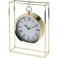 Zegar stołowy Erada złoty, 18,8 x 5,8 x 25 cm