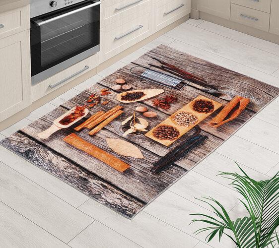 Bellatex Kusový koberec Řecký stůl 3D, 80 x 120 cm