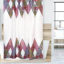 Mandala zuhanyfüggöny, rózsaszín, 180 x 200 cm