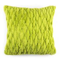 Poszewka na poduszkę włochata pikowana zielony, 45 x 45 cm