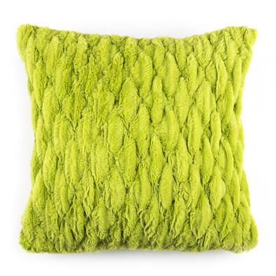 Povlak na polštářek chlupatý prošívaný zelená, 45 x 45 cm