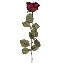 Kwiat sztuczny Róża wielkokwiatowa 72 cm, bordowy