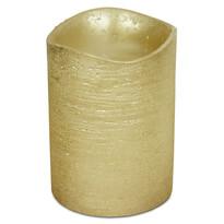 Świeczka LED powlekana woskiem 7,6 x 10 cm, złoty