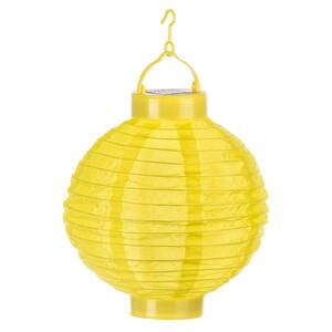 Solární LED lampión žlutá, pr. 20 cm