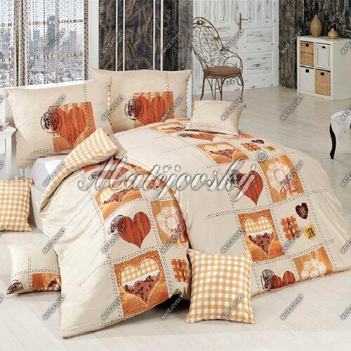 Matějovský flanelové obliečky Heart, 220 x 210 cm, 2 ks 70 x 90 cm
