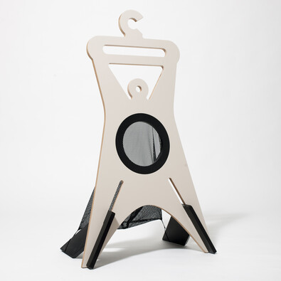 Němý sluha TONDA 94,9 cm, šedý