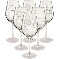 Crystalex 6-częściowy Komplet kieliszków do wina Elements, 450 ml