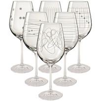 Crystalex 6-dielna Sada kalíškov na víno Elements, 450 ml