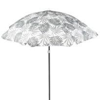 Koopman Plážový slunečník Malibu šedá, 176 cm