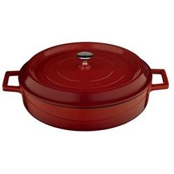 LAVA Metal Litinový kastrol kulatý, pr. 28 cm, červený