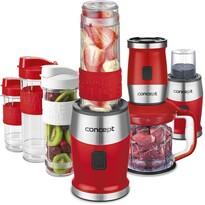 Concept SM3392 Fresh&Nutri multifunkčný mixér, 700 W + fľaše 2x 570 ml + 400 ml, červená