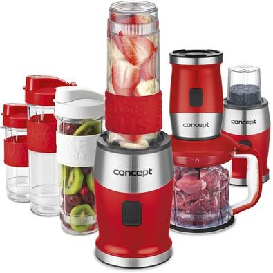 Concept SM3392 Fresh&Nutri multifunkční mixér,  700 W + láhve 2 x 570 ml + 400 ml, červená