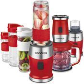 Concept SM3392 Fresh&Nutri mikser wielofunkcyjny, 700 W + 2 butelki 570 ml + 400 ml, czerwony