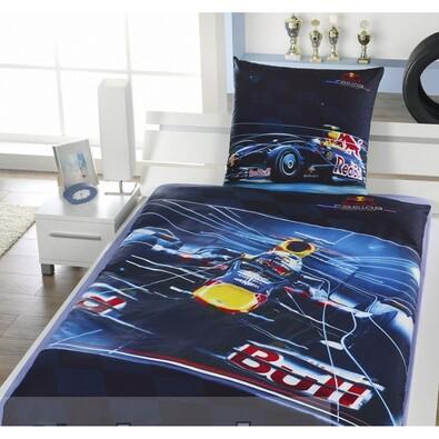 Bavlněné povlečení Red Bull Racing - Formule, 140 x 200 cm, 70 x 80 cm