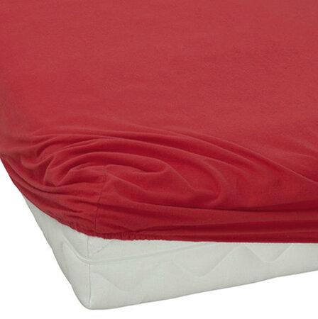 BedTex jersey prestieradlo červená