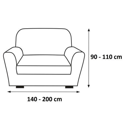 Husă elastică de canapea, Set maro, 140 - 200 cm