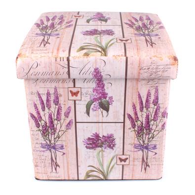 Pudełko składane do siedzenia Lawenda
