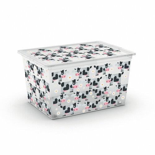 KIS Dekorační úložný box C-Box Style XL Cute Animals, 50 l