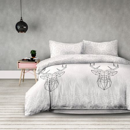 AmeliaHome Flanelové obliečky My Deer friend, 160 x 200 cm, 2 ks 70 x 80 cm