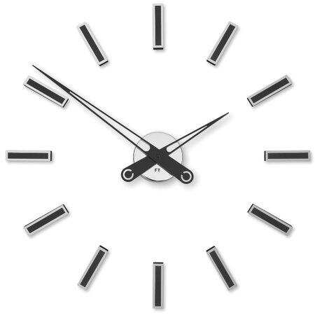 Future Time FT9600BK Modular black Dizájner öntapadó óra, átmérő: 60 cm